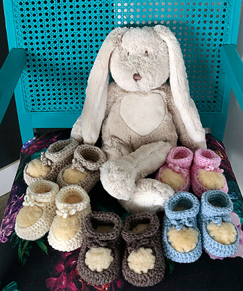 Babies Sheepskin Slippers handcrafted in NZ